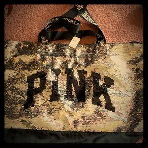 Victoria's Secret PINK Sequin travel bag